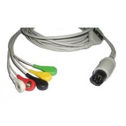 Cable ECG Multi-Marcas con Terminales